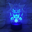 3D LED Night Light Gengar Touch Swift Table Desk Bed Lamp Christmas Kids Gift