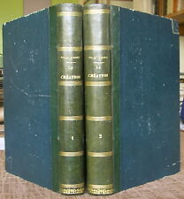 EDGAR QUINET LA CREATION 1870 EO 2 VOL. RELIES PHILOSOPHIE DARWINISME HUMANITE