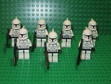 Lot of 7 Lego Star Wars Clone Troopers Minifigure, Minifig, Phase I w/ Blasters