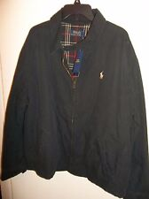 Polo Ralph Lauren Landon Windbreaker Lined Jacket Black Cotton XL ...