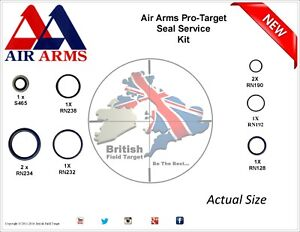 Full-Premium-Seal-Service-kit-Fits-AirArms-Pro-Target-New-177-amp-22-Cal