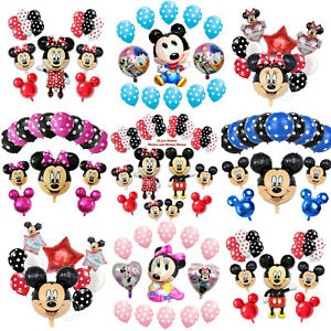 Disney-Mickey-Minnie-Mouse-Birthday-Balloon-Foil-Latex-Gender-Reveal-Baby-Shower