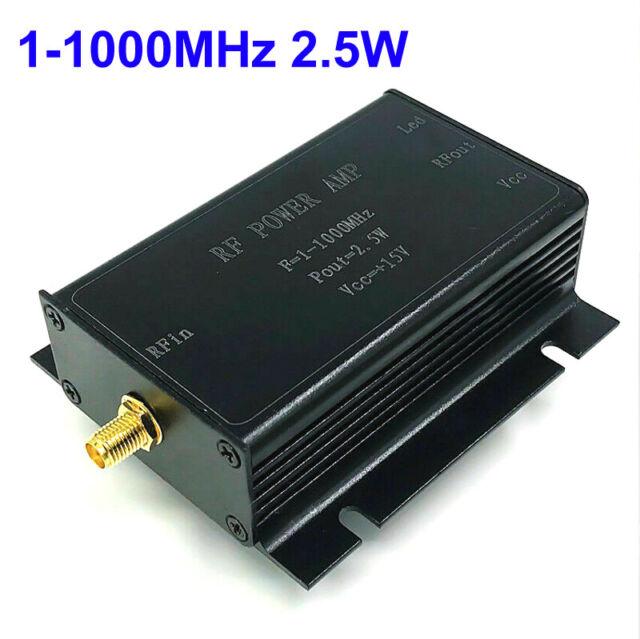 1-1000MHz 2 5W HF VHF UHF FM Transmitter RF Power Amplifier AMP For Ham  Radio