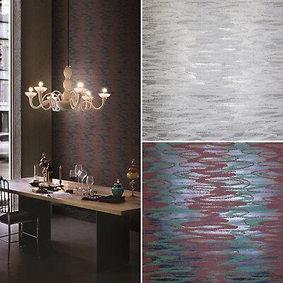 """moderne Vliestapete /""""Flavour/"""" Textil-Optik weiss und glänzend silber 3443-11"""