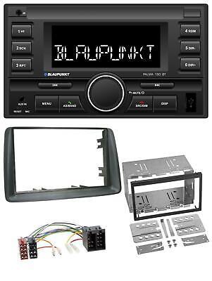 Radioeinbauset Doppel DIN Autoradio für Fiat Panda 2003-2012 grau