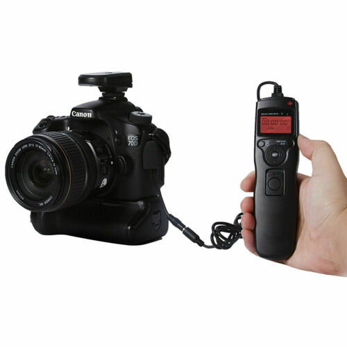 LCD Shutter Timer Remote Control Cord for Canon DSLR 650D 600D 700D Camera