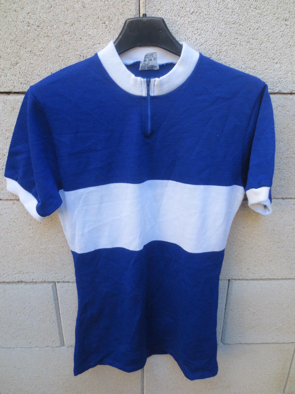 VINTAGE Maillot cycliste KOPA HEURTEFEU made in France années 70 blue jersey 2 S