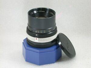 Minolta-ROKKOR-TC-135mm-F4-Bellows-Lens-39mm-Screw-Mount-No-1205260