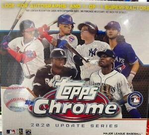 2020 Topps Chrome Update Series Baseball Mega Box **NEW, Factory Sealed**