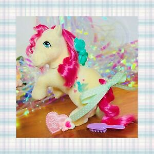 ❤️My Little Pony MLP G1 Vtg So Soft Ponies TRULY Flocked Fuzzy Love Dove Heart❤️