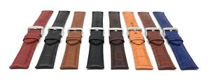 Mens-Alligator-Leather-Watch-Strap-Band-18m-20mm-22mm-24mm-26mm-Many-Colors