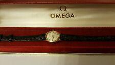 Omega Geneve 9K solid  Gold Vintage 70s boxed