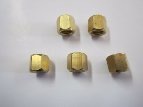 124 SPIDER REDUCED CLEARANCE 131 BRASS FIAT EXHAUST MANIFOLD NUTS LANCIA