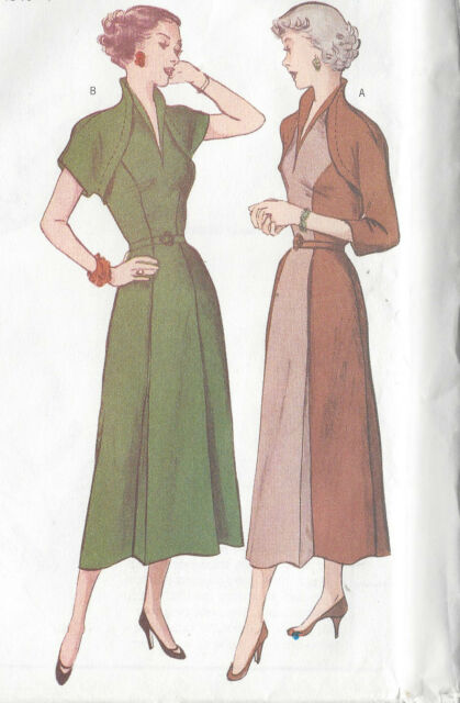 Butterick Sewing Pattern 6523 Retro 1950 Fitted Princess Seam Dress