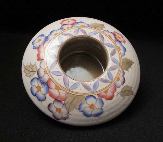 CHARLOTTE RHEAD BURSLEY WARE ARABESQUE FLORAL POSY BOWL TUBE LINED TL4