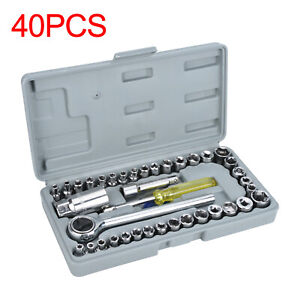 40x-Socket-Adaptors-Set-1-4-034-amp-3-8-034-Drive-Ratchet-Car-Wrench-Flexiable-Repair-Tools