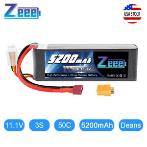 Zeee-5200mAh-50C-3S-11-1V-Deans-LiPo-Battery-for-RC-Helicopter-Airplane-Car-Boat