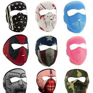 Zan Headgear Full Face Mask Neoprene Polyester Motorcycle Snowboard Ski Cover Ebay