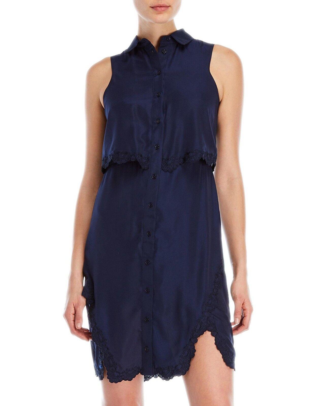 PARKER Aquarius Lace Trim Overlay Dress Size XS NWT  398