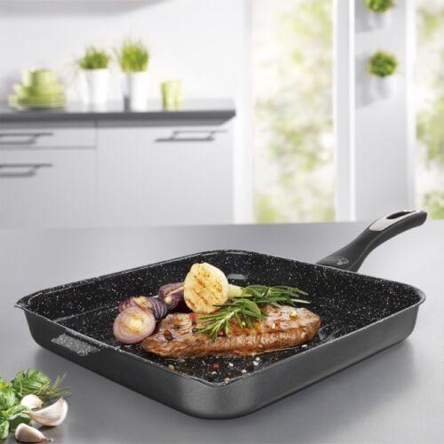 Grillpfanne Steakpfanne 28cm Mama Rossi Induktion Gas Ceran Elektro backofen//...
