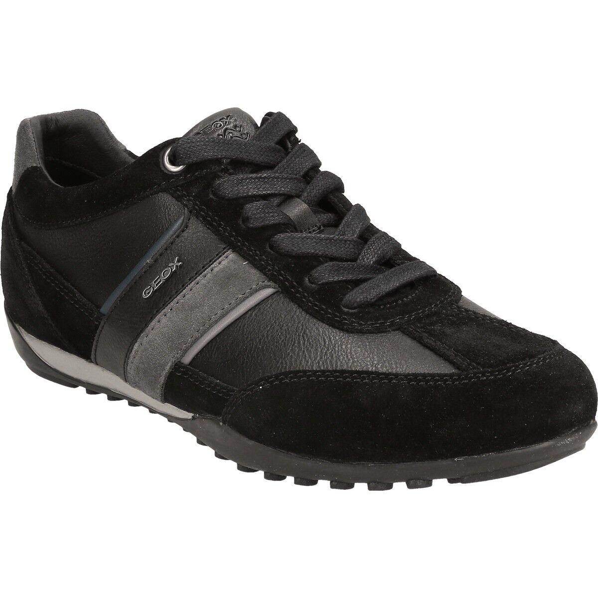 GEOX GEOX GEOX RESPIRA Messieurs U Wells C Lowtop Baskets Chaussures Basses u52t5c Noir 656a64
