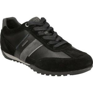 GEOX-RESPIRA-Messieurs-U-Wells-C-Low-top-Baskets-Chaussures-Basses-u52t5c-Noir
