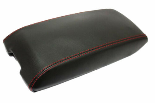 Red Stitch Center Console Lid Armrest Cover Vinyl For 11-19 Dodge Durango