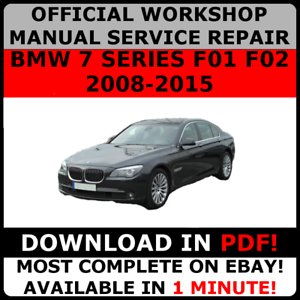 official workshop service repair manual for bmw 7 series f01 f02