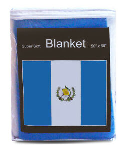 Guatemala-Flag-Fleece-Blanket-50-034-x60-034-Guatemalan-Travel-Throw-Cover-Cobija-NEW