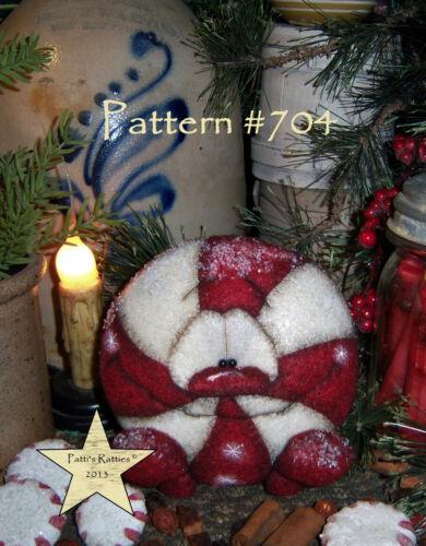 Patti/'s Ratties Primitive Christmas Peppermint Drop Doll Paper Pattern #704