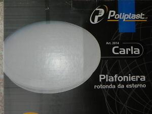Plafoniere Tonde Da Esterno : Plafoniera lampada da esteno parete balcone giardino tonda colore