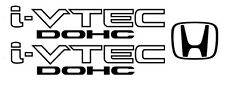 Honda I-Vtech DOHC Decal Stickers Set of 3  Civic Accord Prelude CRX SI Acura