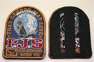 orig-Blau-Parajumpers-PJS-Patch-Aufnaeher-Mantel-Jacke-Long-Klett-Logo-Emblem-ne