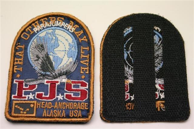 ORIG. azul parajumpers PJS Patch Patch abrigo chaqueta Long velcro logotipo Emblem