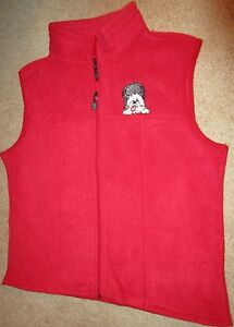 WOMEN-039-S-RED-FLEECE-VEST