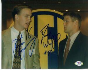 Peyton Manning Danny Wuerffel Signed Photo 8x10 Autographed Vols Gators PSA/DNA