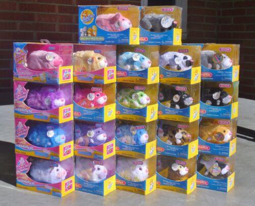 Zhu Zhu Pets Hamster Bright Colorful Long Hair Spots Pick 1 or Get them ALL! NIP