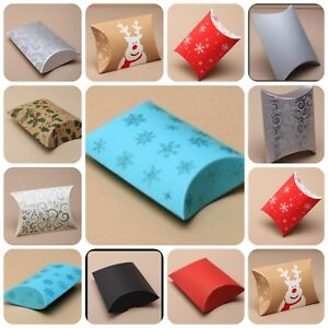 Christmas-Pillow-Pack-Gift-Present-Box-Packaging-Wrapping-Wrap-Favour-Various