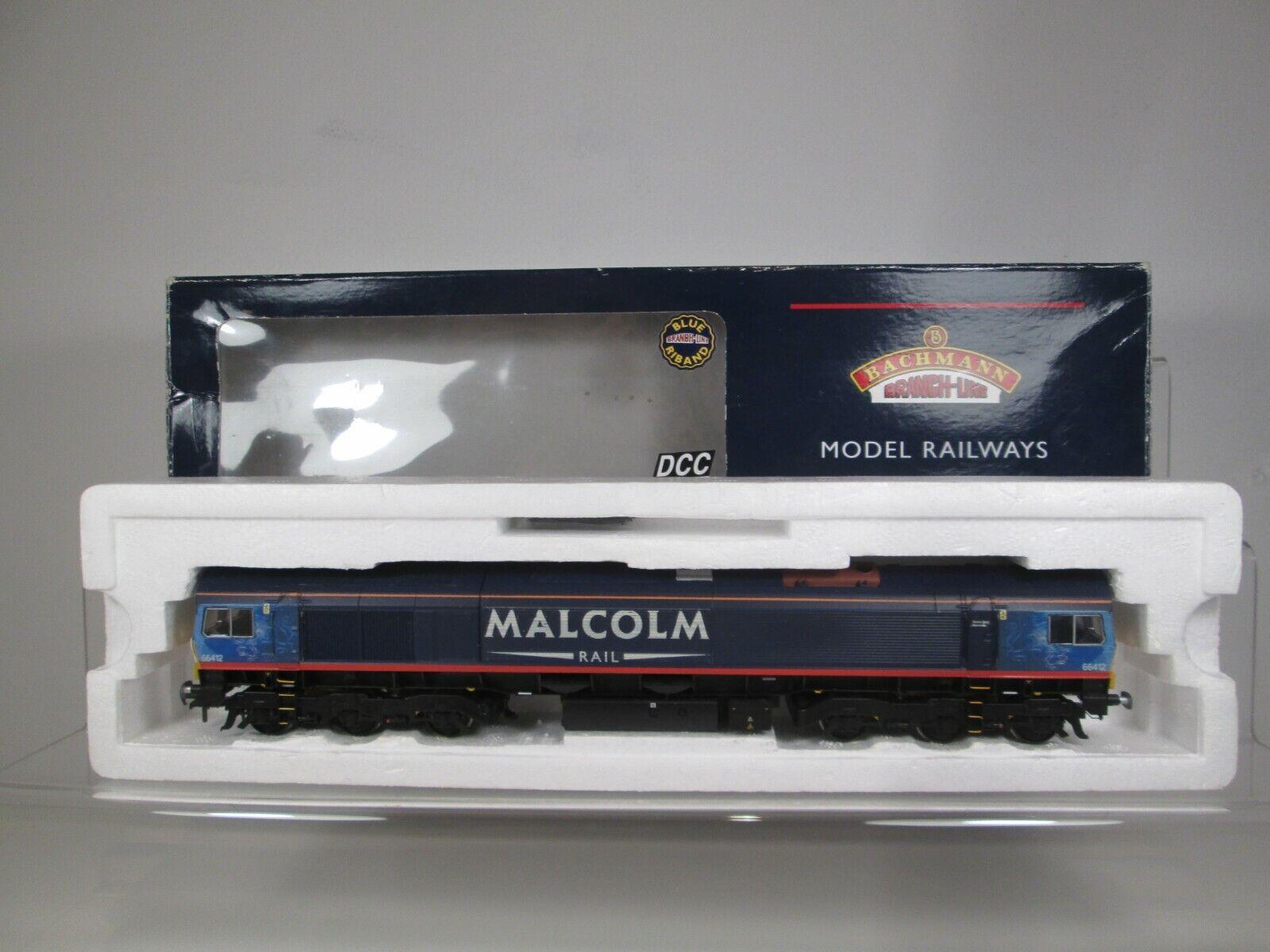 Bachmann OO Gauge Class 66 412 Malcolm Rail Repainted