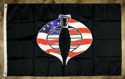 Joe Cobra Drapeau 3x5 FT Black Banner Man-Cave Garage de Collection Jouet Salle de NEUF G.I