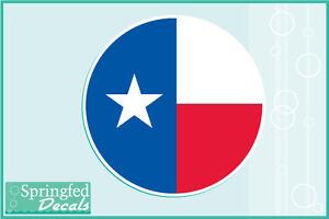 TEXAS STATE FLAG ROUND Vinyl Decal Car Truck Window Sticker - Custom round vinyl decals