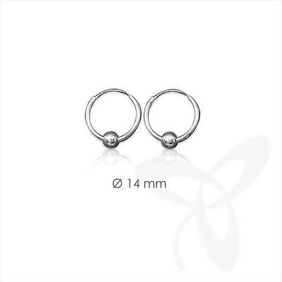 Clever 925 Silber Single Ohrring Keltische Creole Gothic Celtic Bali Einzel 14mm 5032
