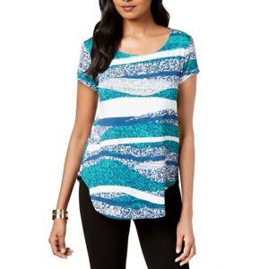 ALFANI-NEW-Women-039-s-Wavy-Texture-Print-Casual-Shirt-Top-TEDO