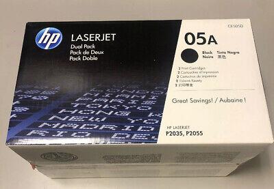 NEW SEALED ORIGINAL HP CE505A 05A DOUBLE  PACK BLACK LASERJET TONER CARTRIDGES