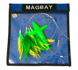 Daisy Chain Teaser avec oiseau-Vert Plume truquées avec sac-Magbay lures-afficher le titre d`origine PuG79qDF-07135529-149921417