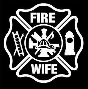 Firefighter-Stickers-Fire-Wife-5-034-Maltese-Sticker-Maltese-Decal-Various-Colors