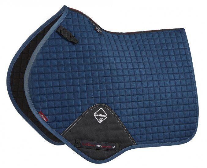 LeMieux ProSport Luxury Suede Close Contact CC Saddle Pad - D-ring attachment