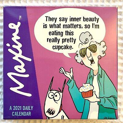 Maxine 2021 Calendar Box Edition Bundle Deluxe 2021 Maxine Day-at-a-Time Box Calendar with Over 100 Calendar Stickers