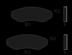 Pastiglia freno anteriore CM068308 PIAGGIO Beverly Sport 250 i.e 2006 2007 2008