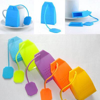 Bag Design Loose Tea Leaf Strainer Filter Herbal Spice Infuser Diffuser Silicone